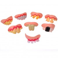 Funny Teeth(10 pcs) Fake Teeth Halloween,Ugly Fake Teeth Costume Party Funny Halloween Gag Gift Halloween Decoration Best Gifts