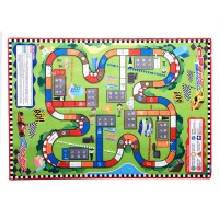 "Kids' Rugs Large (57"" X39"") Rug City Life Great For Playing With Cars & Toys,Children Educational Road Traffic Play Mat, Kids Carpet Playmat Rug, Ideal Gift For Kids Travel/Indoor/Outdoor Safely"