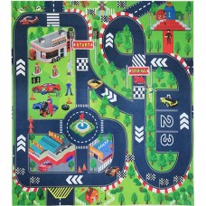 Road Playmat Toy,Kids Carpet Playmat,Great For Playing With Cars and Toys,Children Educational Road Traffic Play Mat- Learn and Have Fun Safely