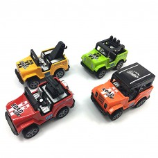 Jeep Toy (4 Packs) Pullback Jeep Wrangler Vehicles Toys Gifts ,Toy Car for Toddler,Gift for Kids (Color Random)