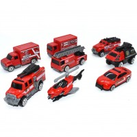 Pumper Fire Truck Toys(5 PCS) Fire Engine Truck Car Toy Set, Push Car Toys for Boys Birthday Gift,Vehicle Gift Set(Random Styles)
